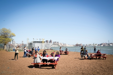 People enjoy access to Pier 42 for the first time on Waterfront Community Day - photo by Whitney Browne