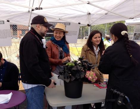 Artist Jennifer Wen Ma at Waterfront Community Day - photo by Whitney Browne