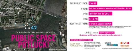 Public Space Potluck at Pier 42