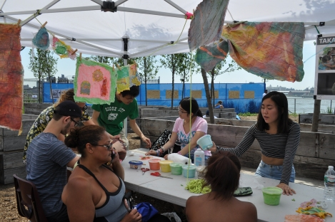 Latex casting workshop at the Paths to Pier 42 Summer Launch Event, July 2014
