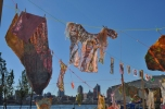 """Social Dress LES - Material Memories"" installation at the Fall Festival"