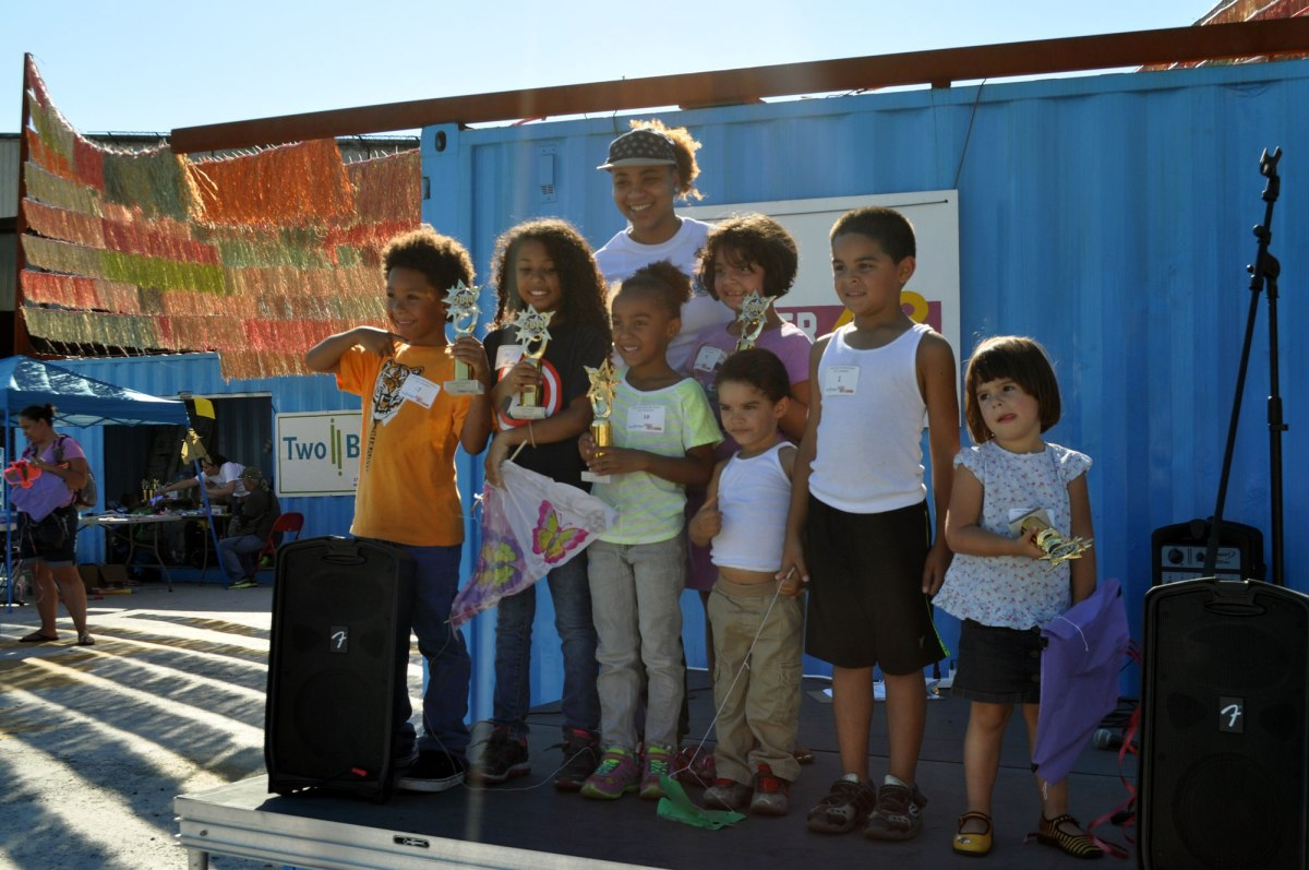 Kite Contest winners at the Fall Festival, 2014