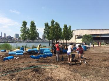 Volunteers help to build Drumreef Watercycle