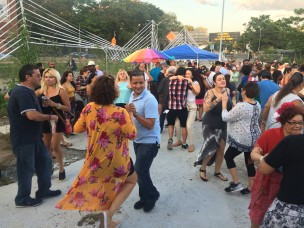 Salsa Concert, August 2017, Zig Zag Fence, photo courtesy of LMCC